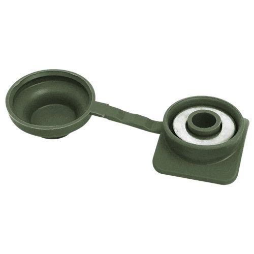 Fijaciones ecolfix verde oliva 10 unidades
