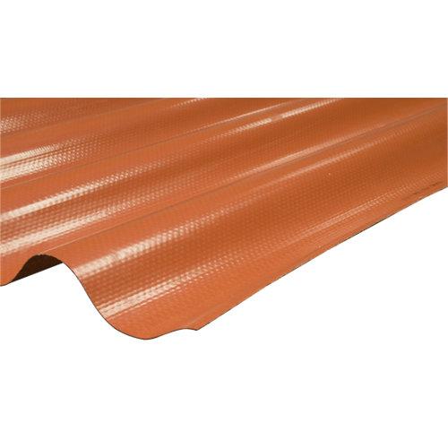Placa de poliéster gran onda rojo 2,5x1,1 m