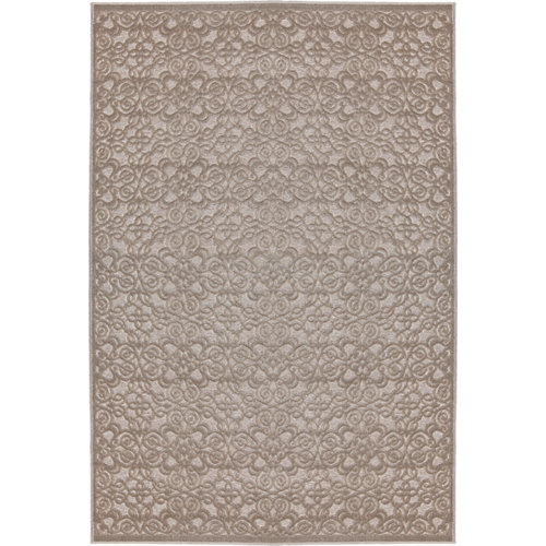 Alfombra pie de cama beige viscosa 30036/652 65 x 110cm