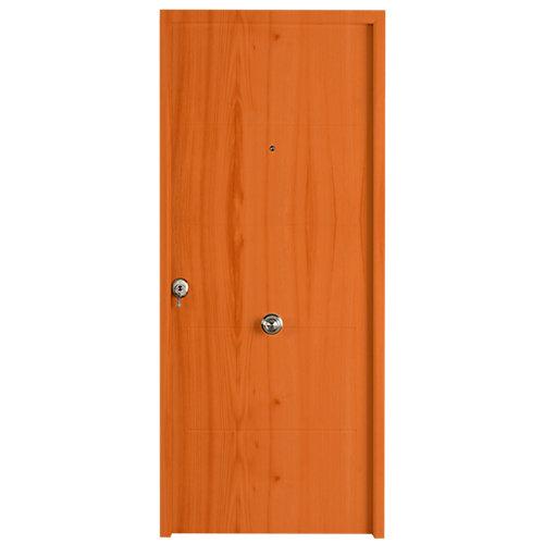 Puerta acorazada izquierda marrón/marrón de 210x93 cm
