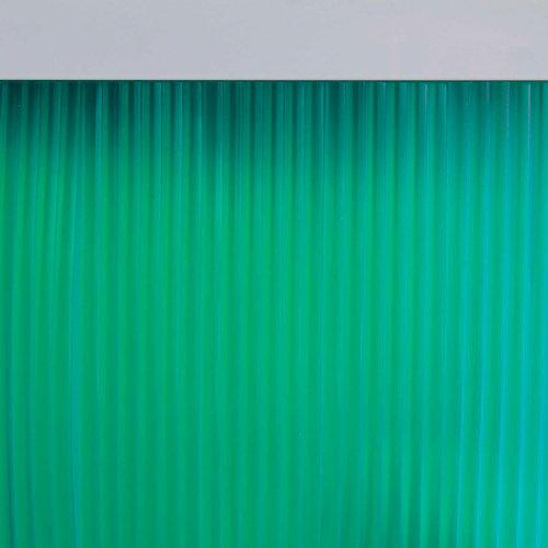 Cortina de puerta verde de 90 x 210 cm