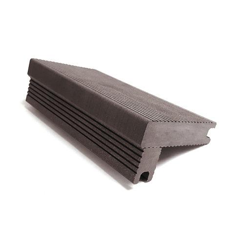 Escalón de composite de pvc y madera red wood de 10.1x5.6 cm