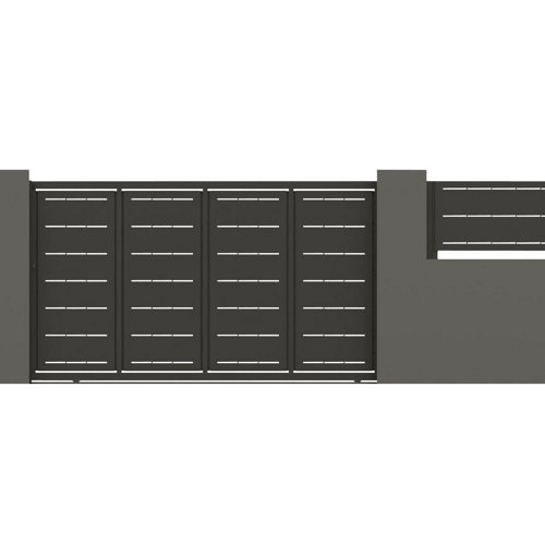 Puerta corredera lines 350x200 cm gris forja