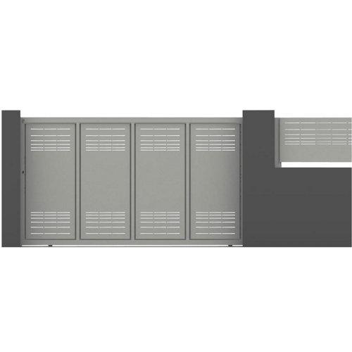 Puerta corredera parallels 350x200 cm blanco