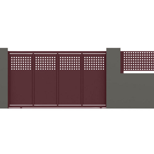 Puerta corredera square 350x200 cm granate