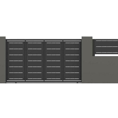 Puerta corredera lines 400x200 cm negra