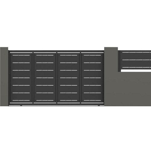 Puerta corredera lines 400x200 cm óxido