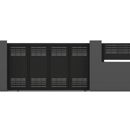 Puerta corredera parallels 400x200 cm negra