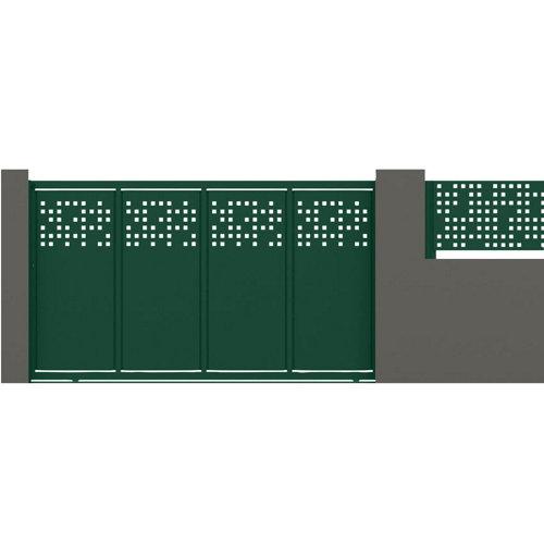 Puerta corredera tetris 400x200 cm verde