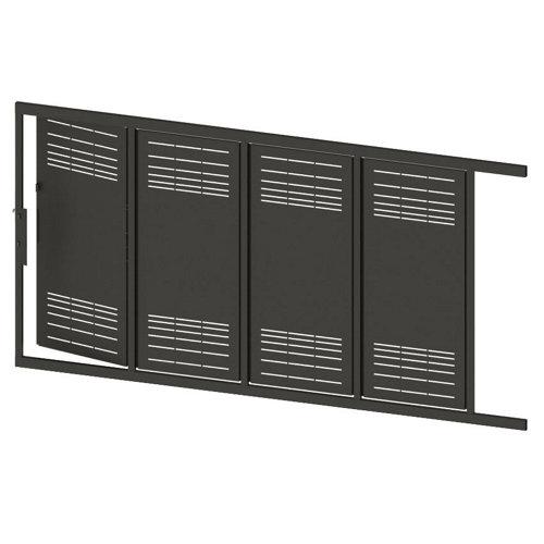 Puerta corredera+peatonal parallels gris forja 350x200 cm