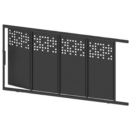 Puerta corredera+peatonal tetris up negra 350x200 cm
