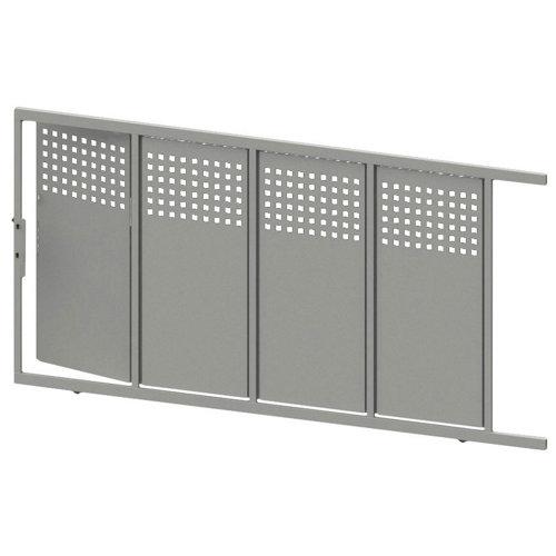 Puerta corredera+peatonal square up blanco 350x200 cm