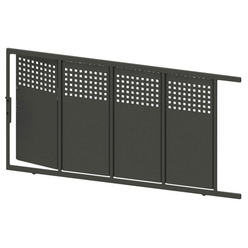 Puerta corredera+peatonal square up gris forja 350x200 cm
