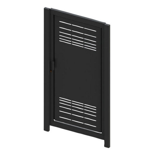 Puerta peatonal parallels 100x200 cm óxido