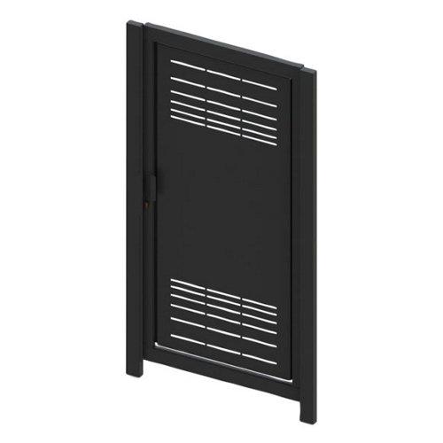 Puerta peatonal parallels 100x200 cm gris forja