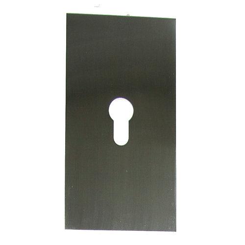 1 escudo de seguridad de acero inoxidable gris