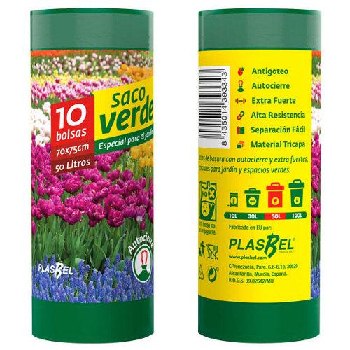 Bolsa de basura de jardín de 5x15 cm para 50l