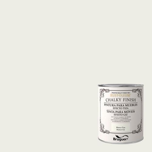 Pintura a la tiza chalky finish rust-oleum 750 ml blanco