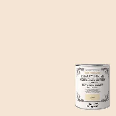 Pintura a la tiza CHALKY FINISH RUST-OLEUM 750 ml crema