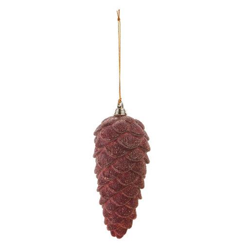 Colgante de piña navideña rojo 12,5 cm