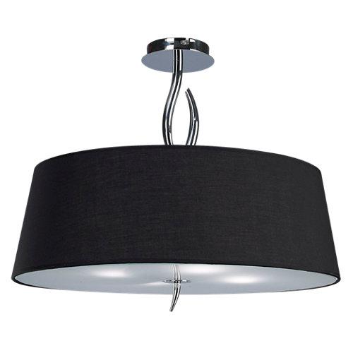 Lámpara de techo ninette negra 4 luces