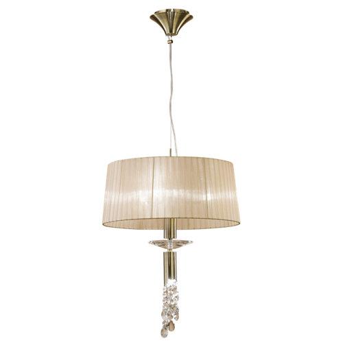Lámpara de techo tiffany amarilla 3 luces