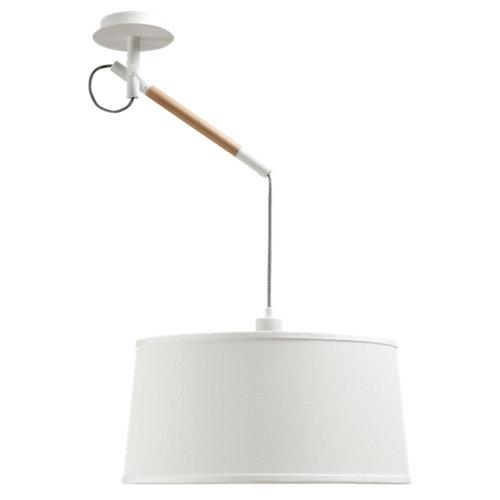 Lámpara de techo nordica blanca 1 luz