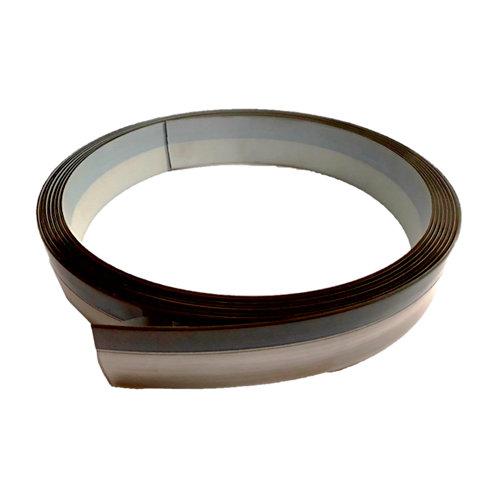 Rollo canto de encimera de pvc para cocina color gris de 4,5x360x0,1 cm