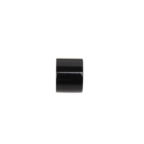 2 terminales tapón para barra ø 28 mm negro
