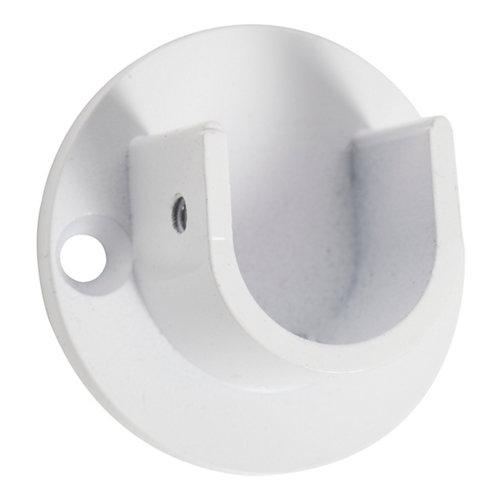 2 soportes entreparedes para barra ø 28 mm blanco