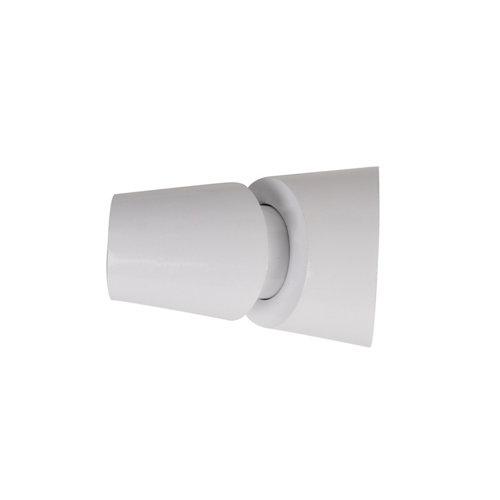 Terminal cavidad para barra ø 28 mm blanco