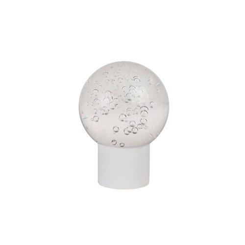 Terminal esfera para barra ø 28 mm blanco y transparente