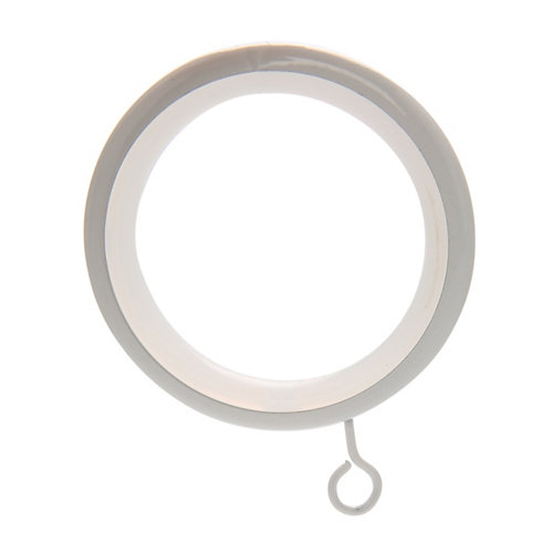 10 anillas ø 28 mm forja blanco