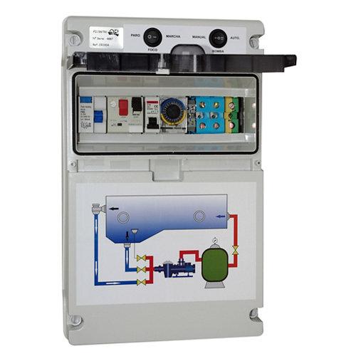 Cuadro eléctrico para depuradora 750w 12x23.5cm