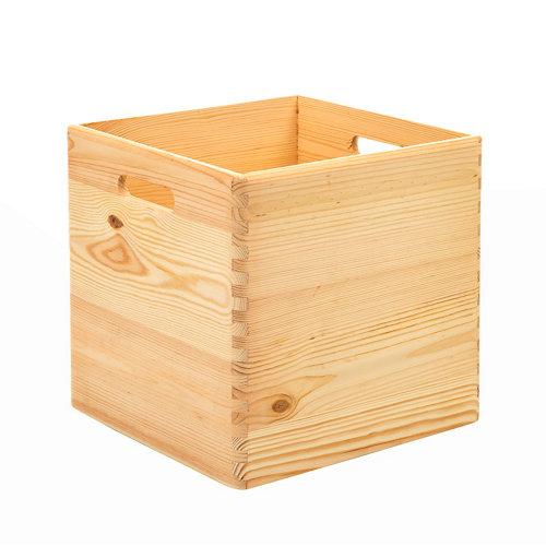 Caja de pino de 30x30x30 cm