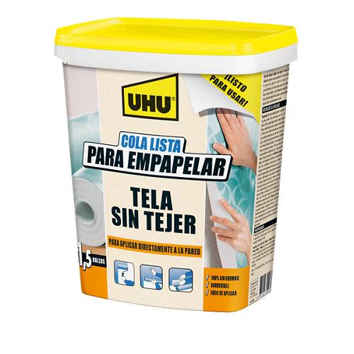 Cola lista para papel pintado tejido no tejido uhu cubeta 1 l
