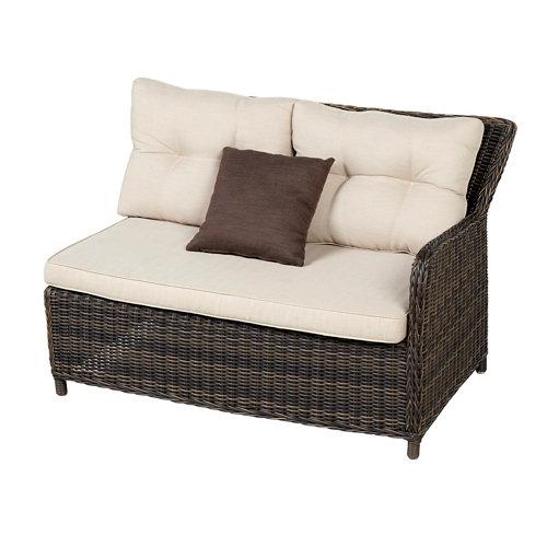 Banco/sofá de exterior de ratán sintético ankara marrón