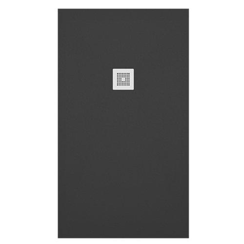 Plato ducha colors liso 100x110 cm negro