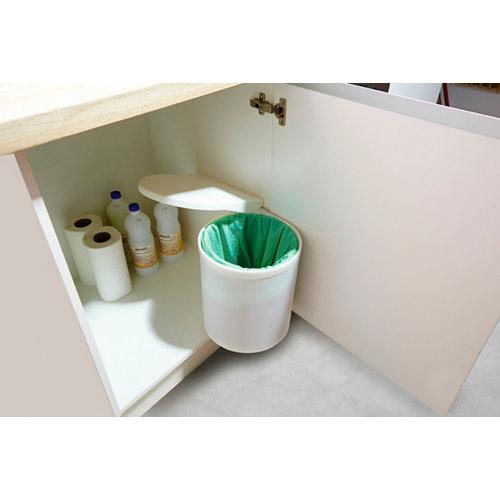 Cubo de basura interior de mueble manual para menos de 20 litros