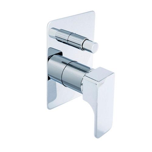 Grifo ducha empotrado monomando plata huber cubic 2 vías