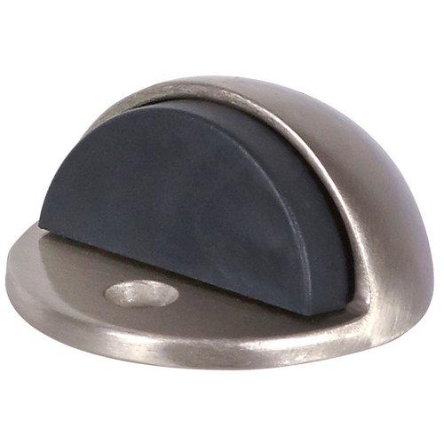 Tope de puerta para fijar en suelo plata de 4,5x2,5x4,5 cm