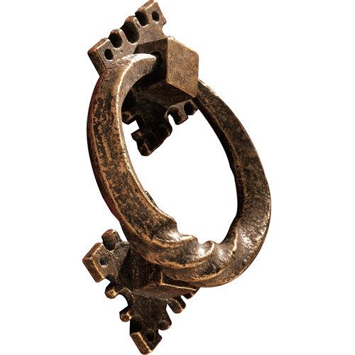Llamador de puerta de entrada de latón bronce