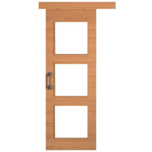 Puerta de interior corredera viena roble de 82.5 cm