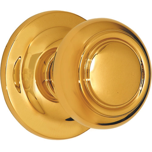 Pomo de puerta de latón brillante