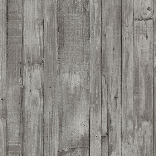 Papel pintado vinílico madera gris