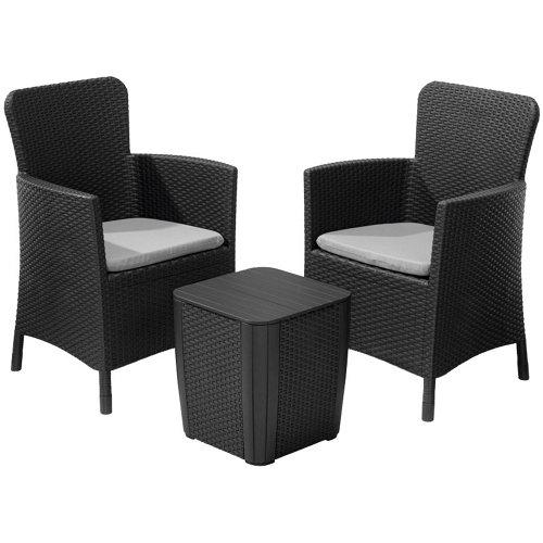 Set de sofás y mesa baja iowa de resina para 2 personas