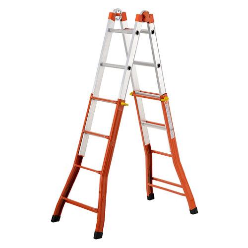 Escalera telescópica gierre 4 peldaños 4.7 m altura máxima.