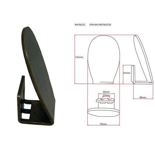 Pedal para empujar de hierro color bronce