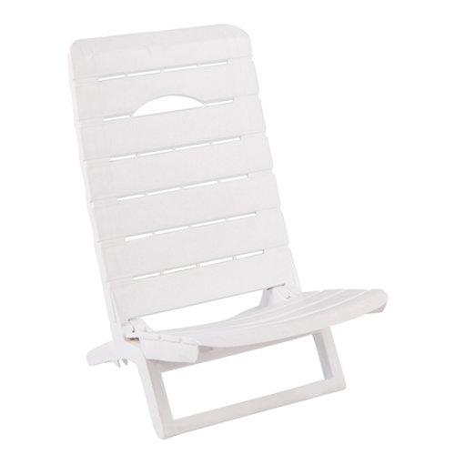 Silla de exterior de resina parsy blanco