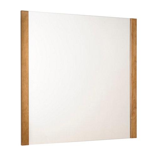 Espejo de baño amazonia amarillo / dorado 80 x 80 cm